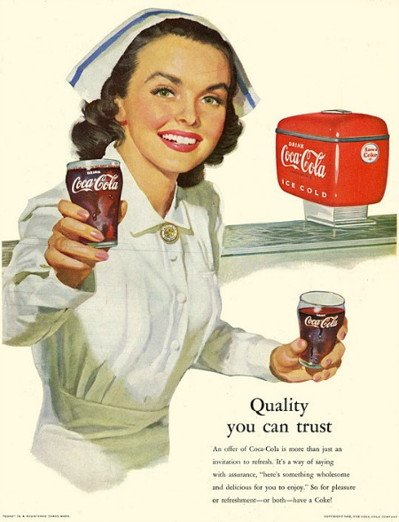 Using nurses to sell products is not new. Credit.