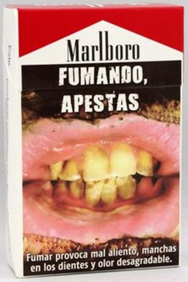 Cigarette packs in Uruguay show the dangers of smoking  Credit